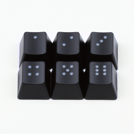"Max Keyboard R4 / E profile row 1x1 Cherry MX ""Dice"" Custom Backlight Keycap Set"
