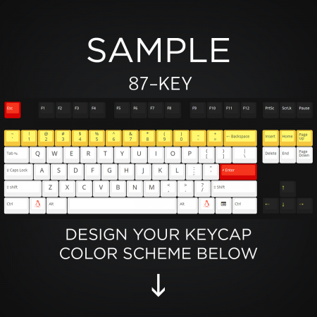 AN EXAMPLE: Max Keyboard 87-Key Layout Custom Color Cherry MX Full Replacement Keycap Set