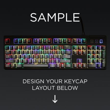AN EXAMPLE: Max Keyboard ANSI Layout Custom Backlight Keycap Set