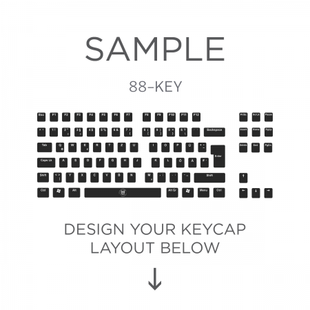 AN EXAMPLE: Max Keyboard ISO 88-Key Layout Custom Backlight Keycap Set