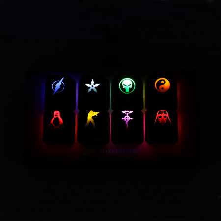 Example: Max Keyboard Custom Backlight Compatible Keycap for backlit keyboard