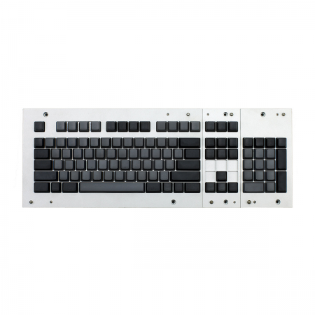 MAX ANSI Bi-Color Gray/Black PBT 104-key Cherry MX Keycap Set with 6.0x spacebar bottom row