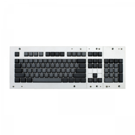 MAX ANSI Bi-Color Gray/Black PBT 104-key Cherry MX Keycap Set with 6.25x spacebar bottom row