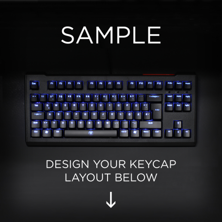 AN EXAMPLE: Max Keyboard ISO Layout Custom Backlight Keycap Set
