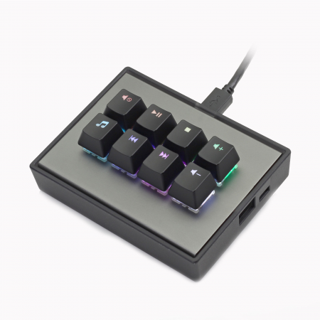 MAX FALCON-8 RGB Programmable mini macropad mechanical keyboard (Assembled)