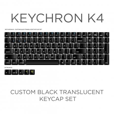 Keychron K4 Custom Black Translucent Keycap Set