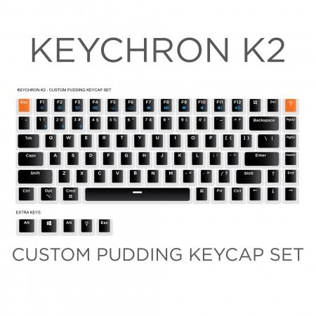 Keychron K2 Custom Black Pudding Keycap Set