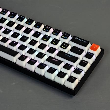 Keychron K6 Custom Black Pudding Keycap Set