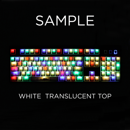 MAX Keyboard ANSI Custom White Translucent Top Backlight Keycap Set