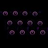 "Max Keyboard R4 / E profile row 1x1 Cherry MX ""Clock"" Custom Backlight Keycap Set"