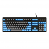 MAX Nighthawk 104-Key PBT Gray/Blue Side Print Mechanical Keyboard