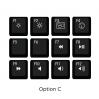 Max Keyboard Mac Media Function Hotkey Shortcuts Keycap Set (OPTION C)